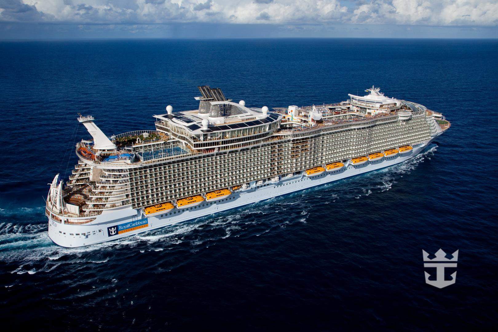 Allure of the Seas Aerial